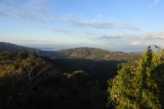 panoramic view of the Gulf of Nicoya from the Karen Reserve